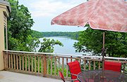 The Galena Lake House Deck