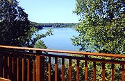 The Galena Lake House View from Deck